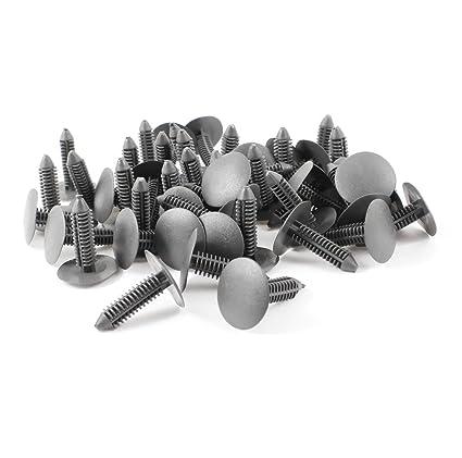 Sourcingmap a14052600ux0206 - Remaches de Parachoques Embellecedores 29mm Grapas 7mm, Gris, 50 pcs