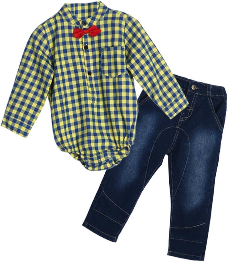 DIAMONDO para bebé Niños señorías lazo camisa de cuadros ...