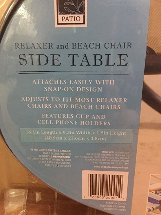 Bar-B-Q Deluxe Relaxer and Beach Chair Side Table Mr