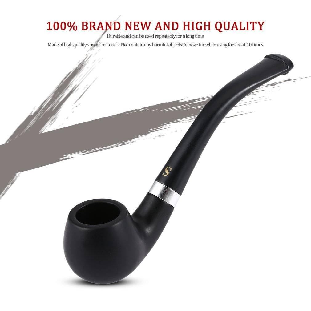 Ceniceros portátiles Cigarrillo Fumar Filtro Codo-Negro 4.5 Pulgada