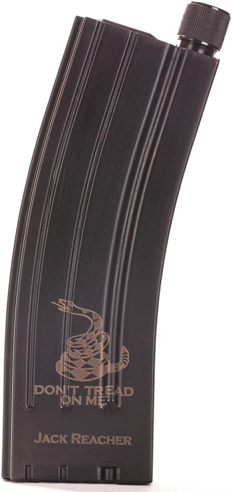 Personalizable ar-15フラスコオンスヒップフラスコ – レプリカMagazineスタイルフラスコ Don't Tread On Me ブラック LSFL-AR15E-DT