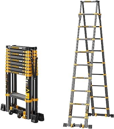 SUBBYE Escalera Extensible Escalera telescópica Multiusos Espiga Telescópica Escalera, Telescópicas De Aluminio Ligero De Las Escaleras De Extensión De Inicio Industria Oficina - Capacidad 330lb: Amazon.es: Hogar