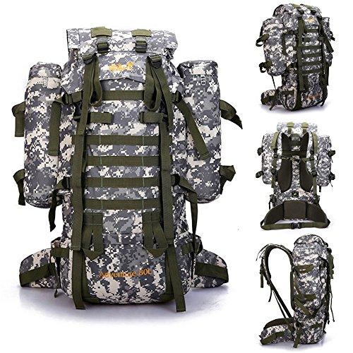 80L Large External Frame Backpacks hiking backpacks for men and women sports bags nylon camping traveling best backpacks bags