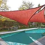 2x 16.5' Triangle Sun Shade Sail Patio Deck Beach Garden Yard Outdoor Canopy Cover UV Blocking (Dark Red)