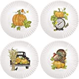Mary Lake-Thompson Thanksgiving 7.5-inch Melamine Appetizer Plates, Set of 4