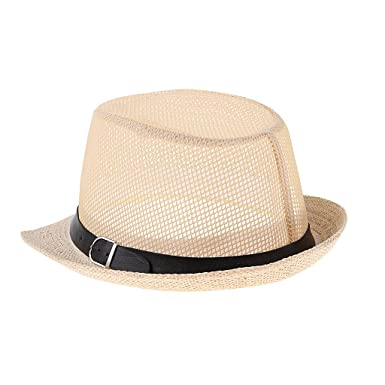 Baoblaze Hot Jazz Beach Hat Sun Panama Gangster Cap Men s Women Kids Unisex  Trilby Fedora - c87188e81cf3