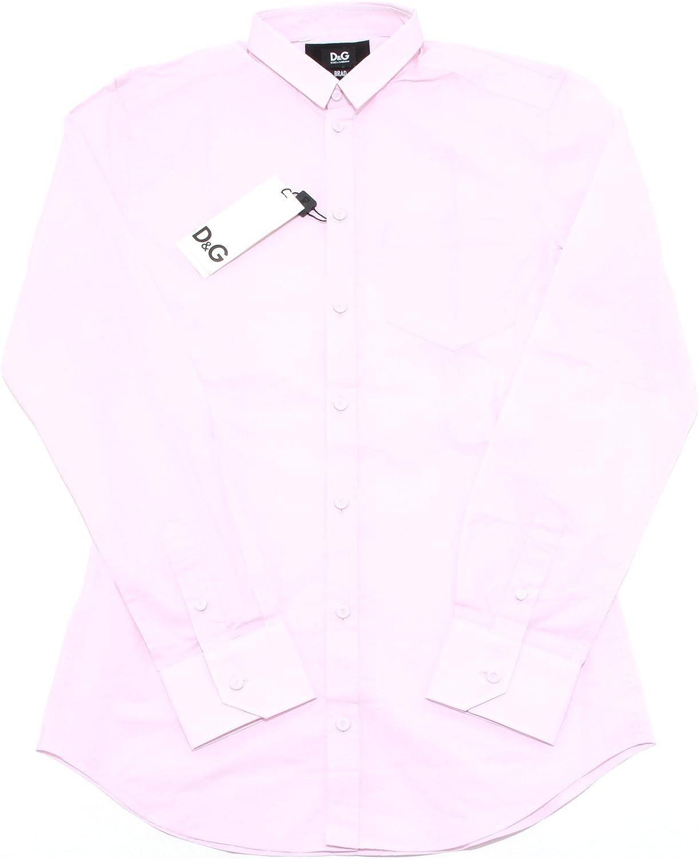 Dolce & Gabbana D&G - Camisa Casual - Para Hombre Rosa Medium: Amazon.es: Ropa y accesorios