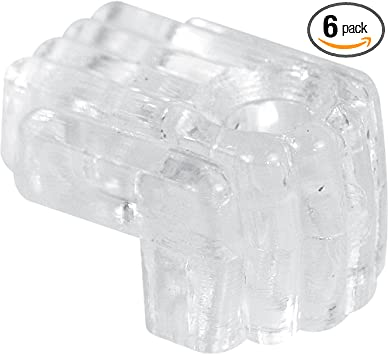 Clear Mirror Clip with Screw and Anchor Pack of 6