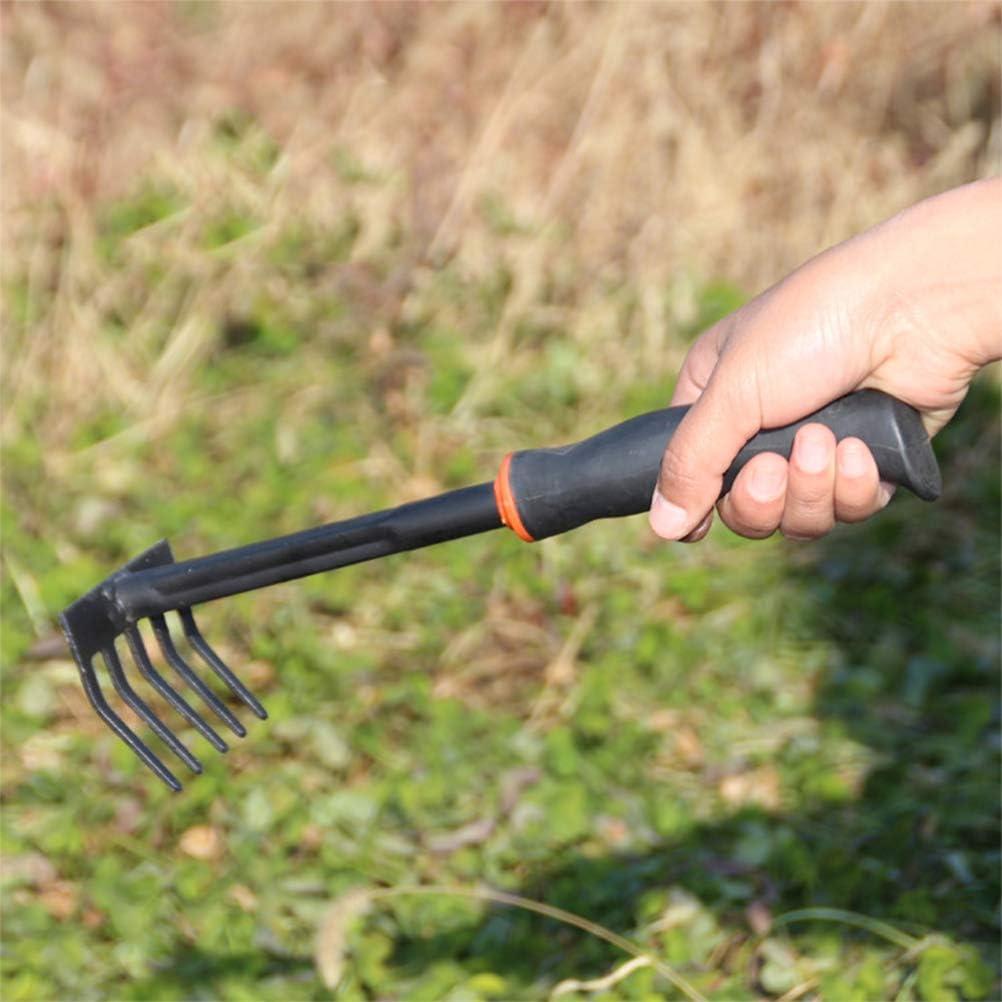 Yardwe Gartenharkengrubber mit kurzem Stiel Kleiner Mini-Harken