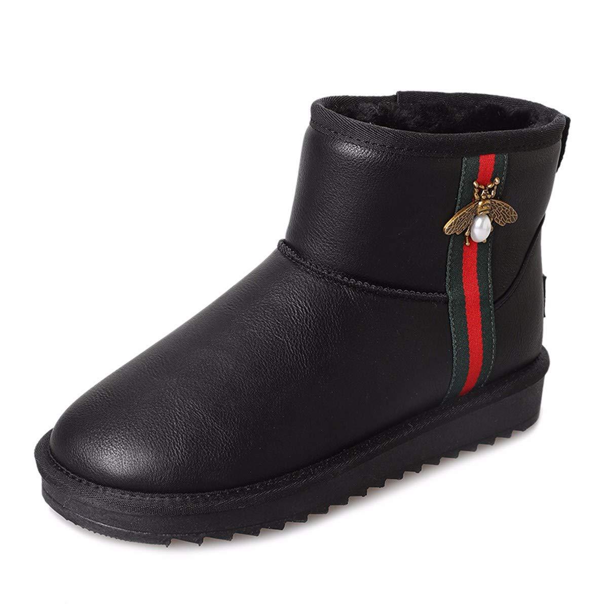 KPHY Damenschuhe/Stiefeln Frauen - Kurzen Schlauch Wild Studenten Winter Warm Baumwolle Baumwolle Stiefel Schuhe.