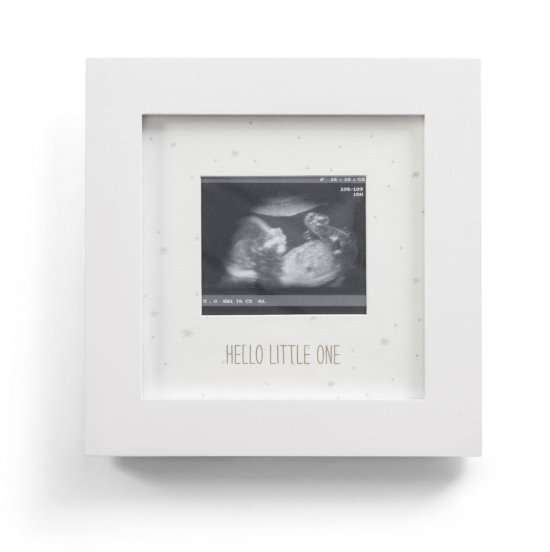 Mamas & Papas 491135007 Bilderrahmen für Ultraschallbild, englische Beschriftung 'Welcome To The World' (Weihnachten) 491135006