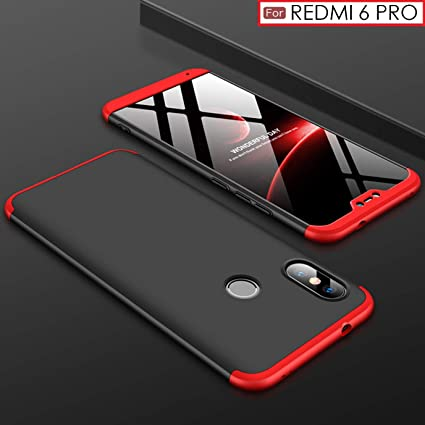 official photos 97adf 2daca WOW Imagine 3-in-1 Double Dip Anti Slip Super Slim Hybrid All Angle  Protection Lightweight Matte Hard Back Case Cover for XIAOMI REDMI 6 PRO