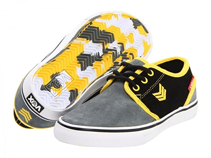 Vox Skate Shoes Slacker Kids Slate Red Yellow, número de zapato:33