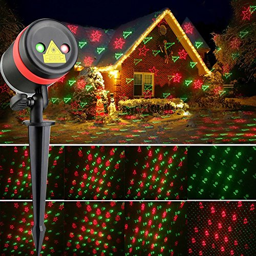 laser halloween christmas lights red and green moving laser with 8 kinds of patterns waterproof and outdoor indoor rotating light projector spotlight for