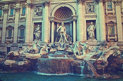 Framed Art for Your Wall Trevi Fountain Italy Rome Fontana Di Trevi Fountain 10x13 Frame