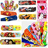 100 Count Waterproof Breathable Bandages Cute Cartoon Band Aid Hemostasis Adhesive First Aid for Kids Children