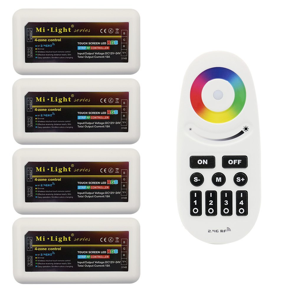 Amazon.com: Wireless 2.4G RF RGB Controller Kit, 4 x Controllers and ...