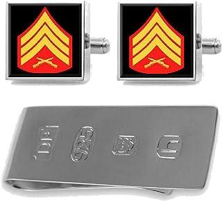 Sterling Cufflinks Money Clip U.S Marines Sergeant