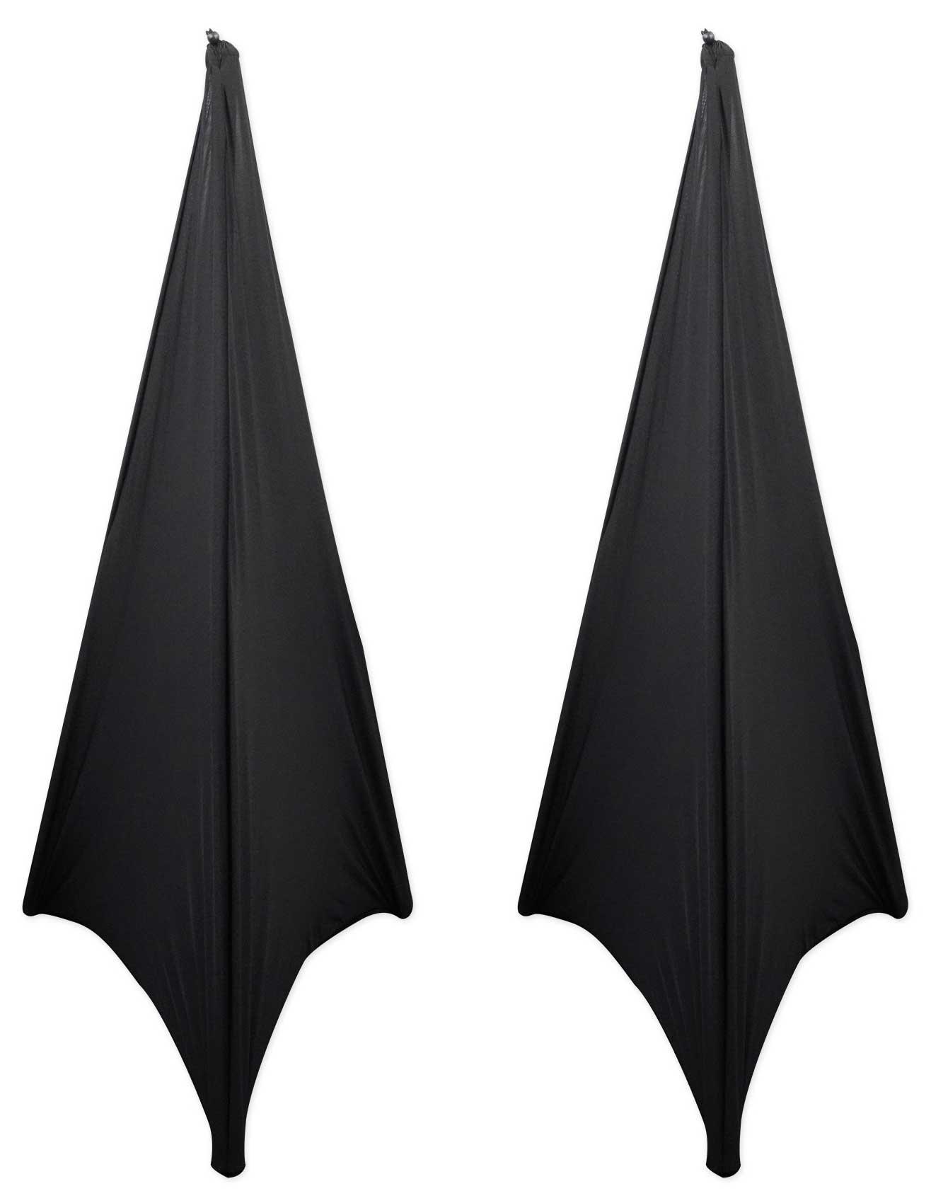 (2) Rockville RSC7B Black Tripod PA Speaker Stand Scrims Cloth 360 Degree Cover