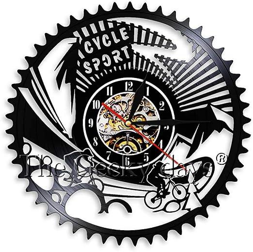 TYFEI Silueta de la Bicicleta Arte de la Pared Decoración Reloj ...