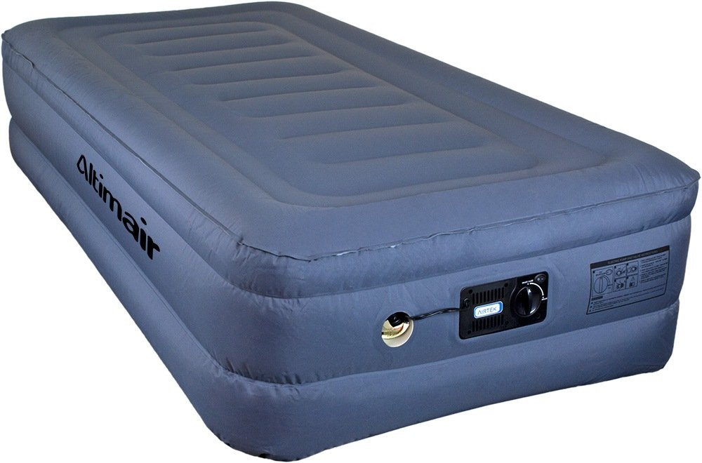 Altimair Twin Lustrous series Premium Air Mattress Airbed with Patented high-end Giga valve, Stretch-Free, High-end Nylon Lamination 2ABTPL01