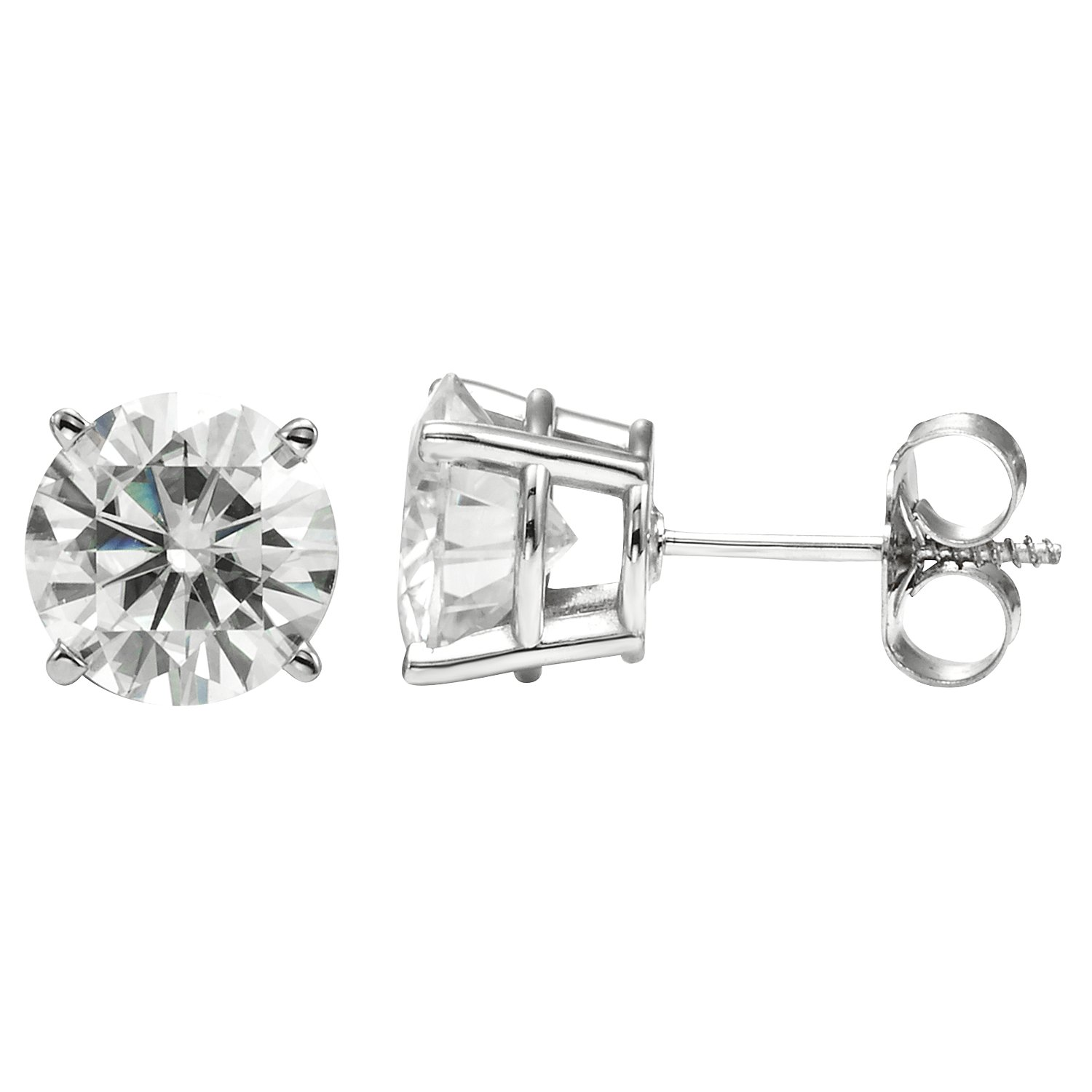 Forever Brilliant 5.0mm Round Moissanite Stud Earrings, 1.00cttw DEW By Charles & Colvard by Charles & Colvard (Image #1)