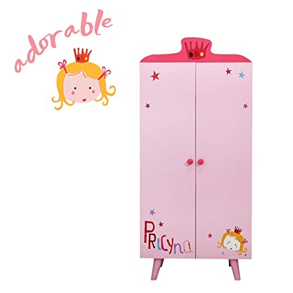 Labebe Children Room Furniture Lovely Wooden Armoire Closet/Wardrobe For  Girls Toddler, With 5