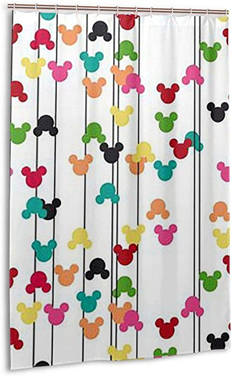 lxjjj stall fabric shower curtains fashion mickey mouse printed bathroom curtain 48 by 72 inch