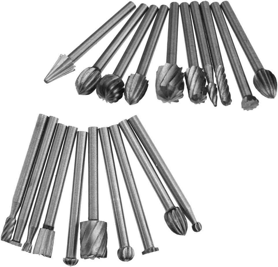 Fraise Fraise acier rapide Set de 20/x 3/mm Fraise Outils multifonction pour Dremel