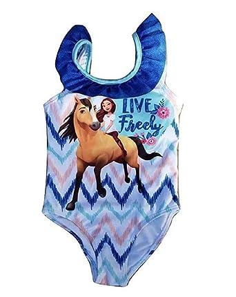 53530f1919 Amazon.com: Spirit Riding Free One Piece Girls Swimsuit: Clothing