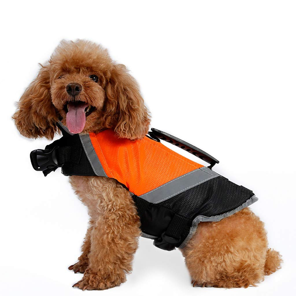 orange XL orange XL LSLMCS Pet Supplies Pet Life Jacket Dog Swimsuit Teddy Swim Vest Pet Float Coat Green, orange (S-XL) (color   orange, Size   XL)