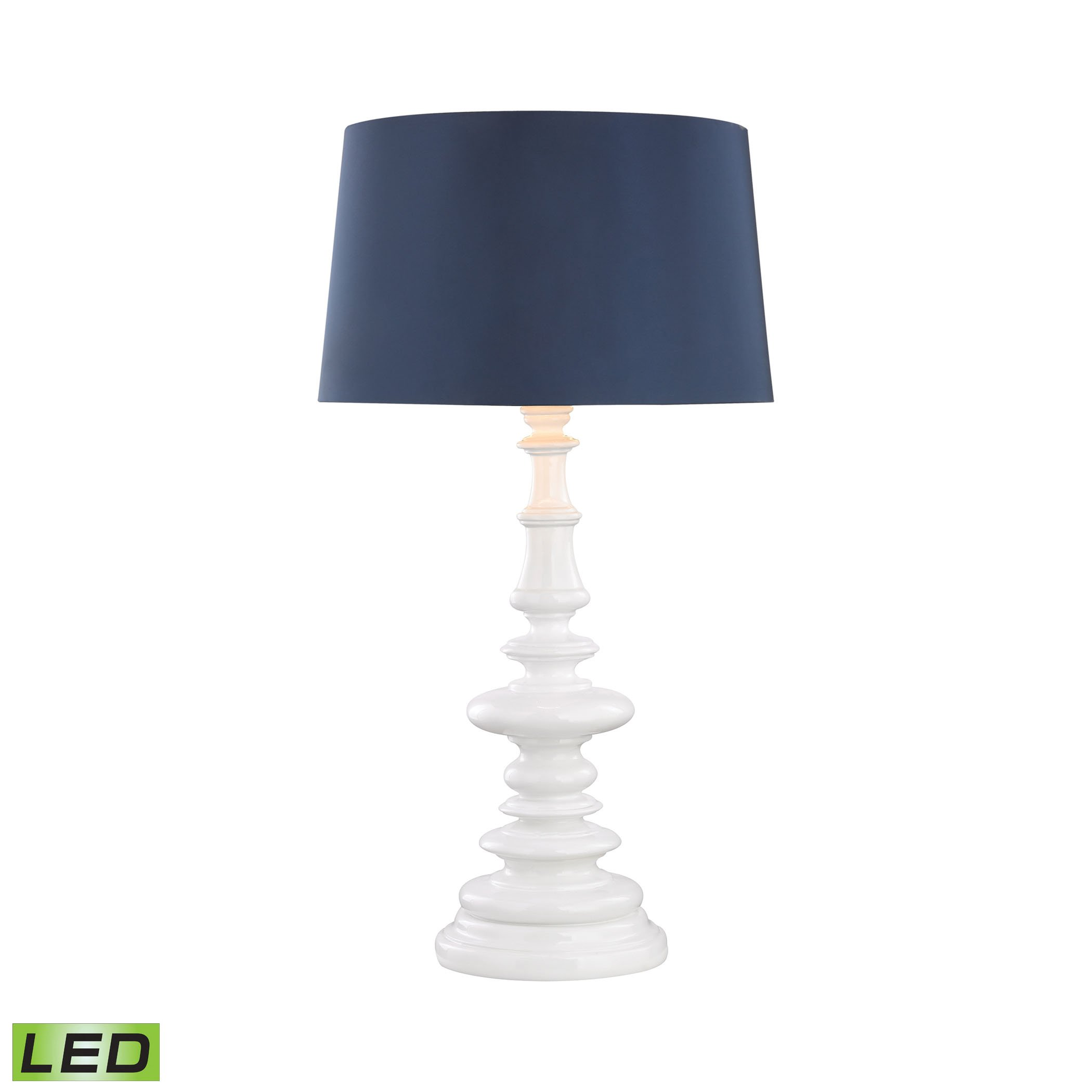Corsage Outdoor LED Table Lamp With Navy Blue Shade by AR Lighting