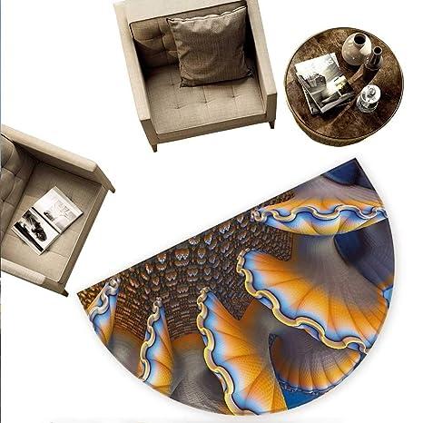 Amazon.com: Cojín semicircular náutico con diseño de brújula ...