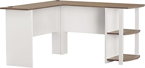 Altra Large Modern White L Shaped Desk