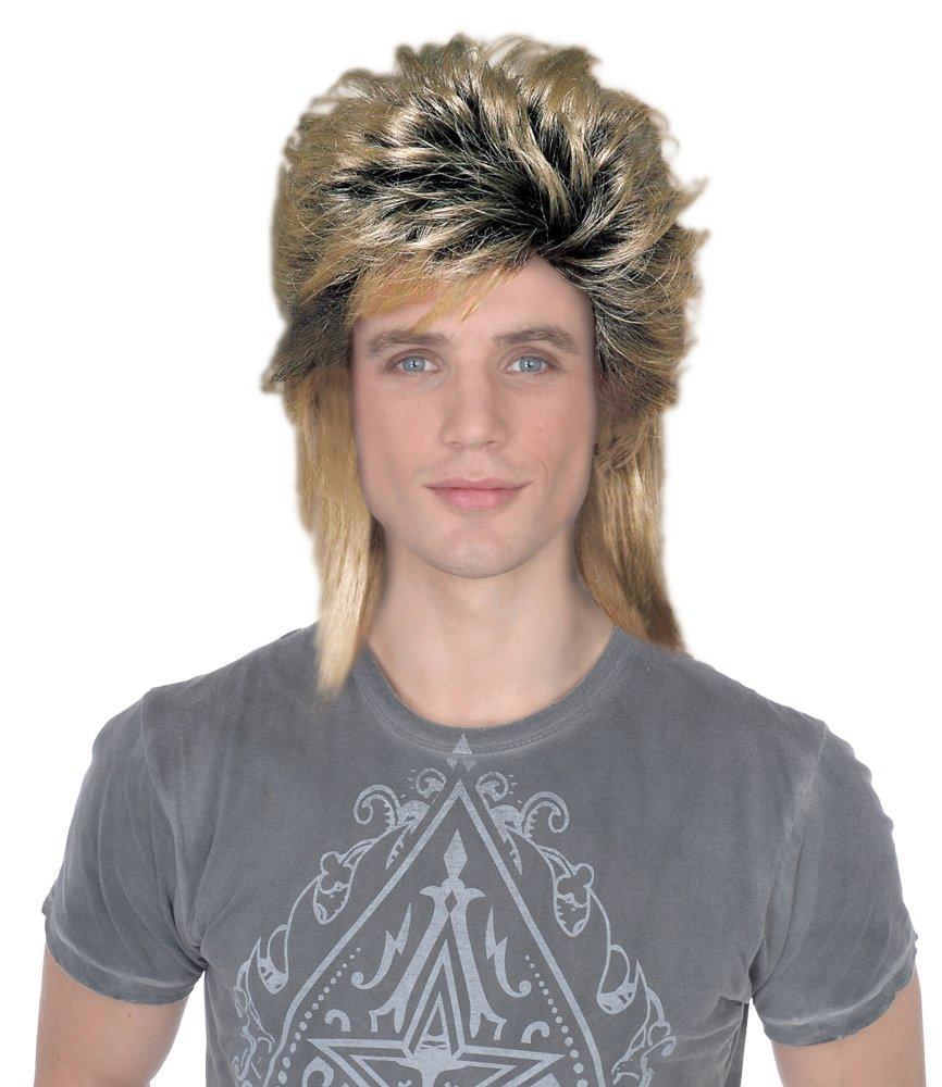 Duran Duran New Romantics Wig, Brown for 80s Pop Star Fancy Dress.