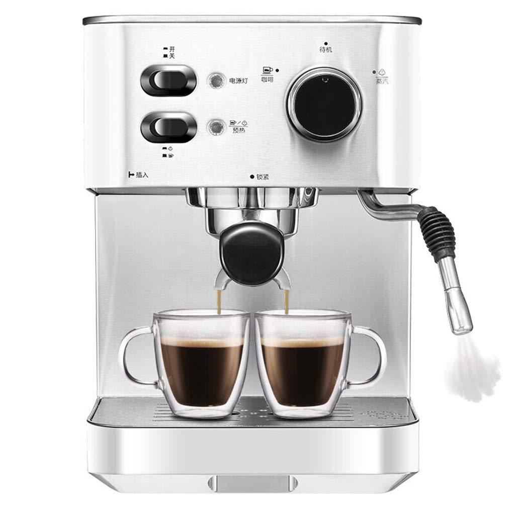 Xiuyun Máquina de café 1050W Vapor semiautomático Extracción de Grado Profesional Cuerpo de Acero Inoxidable Vapor Fuerte (Color : La Plata, ...