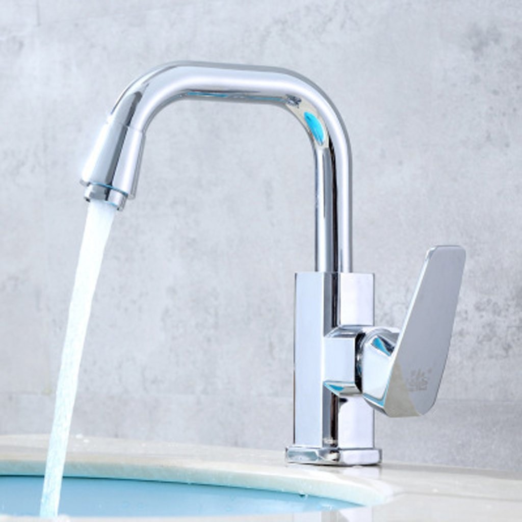 A ZHANGY Faucet Faucet Bathroom Sink Accessories Modern Single Handle Basin faucet,A