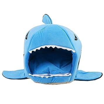 Charmant ANPI Haustier Haus, Maschinenwaschbares Blaues Hai Muster Anti Rutsch  Faltbare Weiche Warme Hund Katze