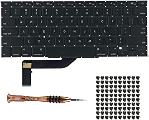 "Willhom US Keyboard with Screws + Screwdriver Kit Replacement for MacBook Pro Retina 15"" A1398 (Mid 2012- Mid 2015)"