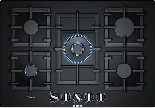 Opinión sobre Bosch Serie 6 PPQ7A6B90 hobs Negro Integrado Encimera de gas - Placa (Negro, Integrado, Encimera de gas, Vidrio, 1000 W, 1750 W)