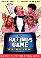 """""""The Ratings Game stars Danny DeVito as a New Jersey trucking magnate who's only dream is hitting it big as a Hollywood producer. Luckily for him, he has a girlfriend (Rhea Perlman) who works for the TV ratings service. Together they pull off..."""
