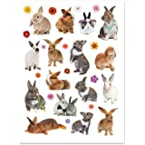 Current Photo Bunnies and Flowers Easter Stickers - 60 stickers