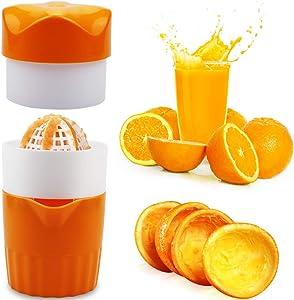 Hand Squeezer Orange Manual Hand Citrus Juicer Manual Hand Juicer with Strainer and ContainerLemon Squeezer Orange Fruit Juicer CitrusJuicer Citrus Squeezer