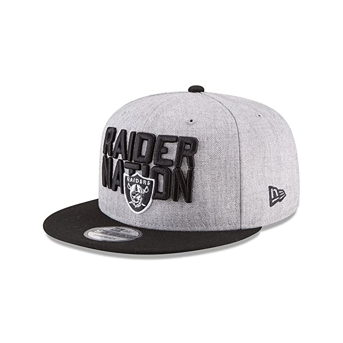 reputable site b2f3b 6042d Amazon.com  New Era Oakland Raiders Official 2018 NFL Draft On-Stage  Snapback 9Fifty Adjustable Hat - Heather Grey  Clothing