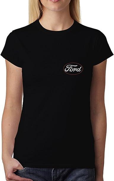 avocadoWEAR Antiguo Ford Logo Mujer Camiseta XS-3XL: Amazon.es: Ropa y accesorios