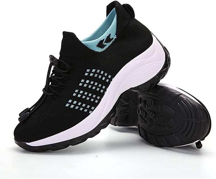 ZYEN Womens Walking Shoes Sock Sneakers
