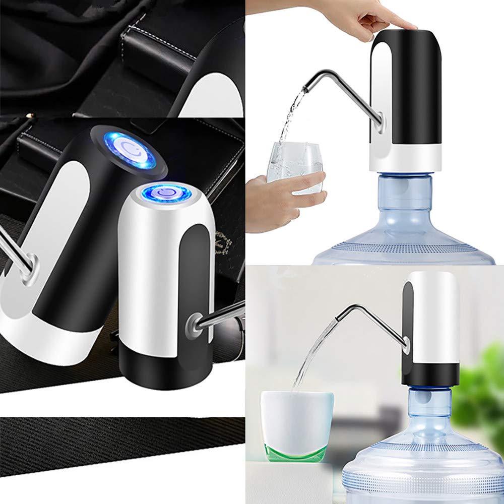 Elektrische Lade Wasserspender USB Wasserpumpe Drahtlose Automatische Wasserflasche Pumpe Flasche Trinkwasserpumpe Dispenser Trinkspender Filter Top Schalter Batterie betrieben Schwarz