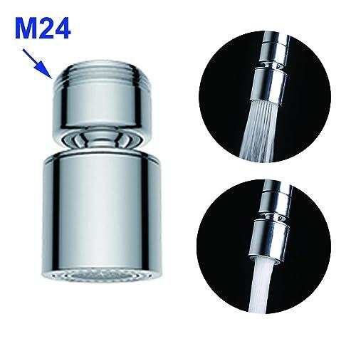 Ahorra Agua Aireador Aireador de repuesto de lat/ón para grifo de rosca macho de 24 mm con junta Hibbent Golpecito del grifo del aireador 24 mm macho M24
