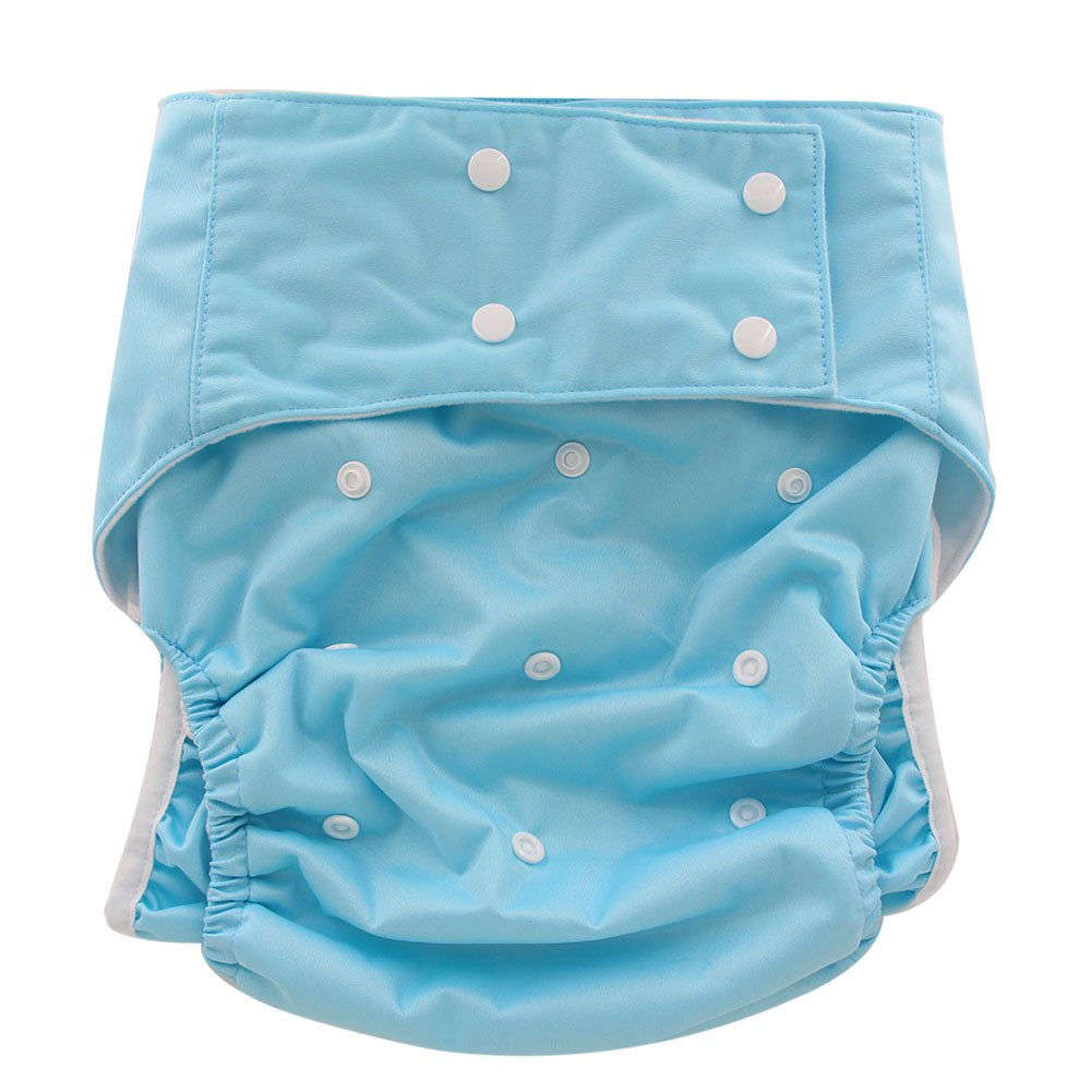 Ohbabyka Adult Reusable Waterproof Bamboo Cloth Diapers Nappies OBNK28