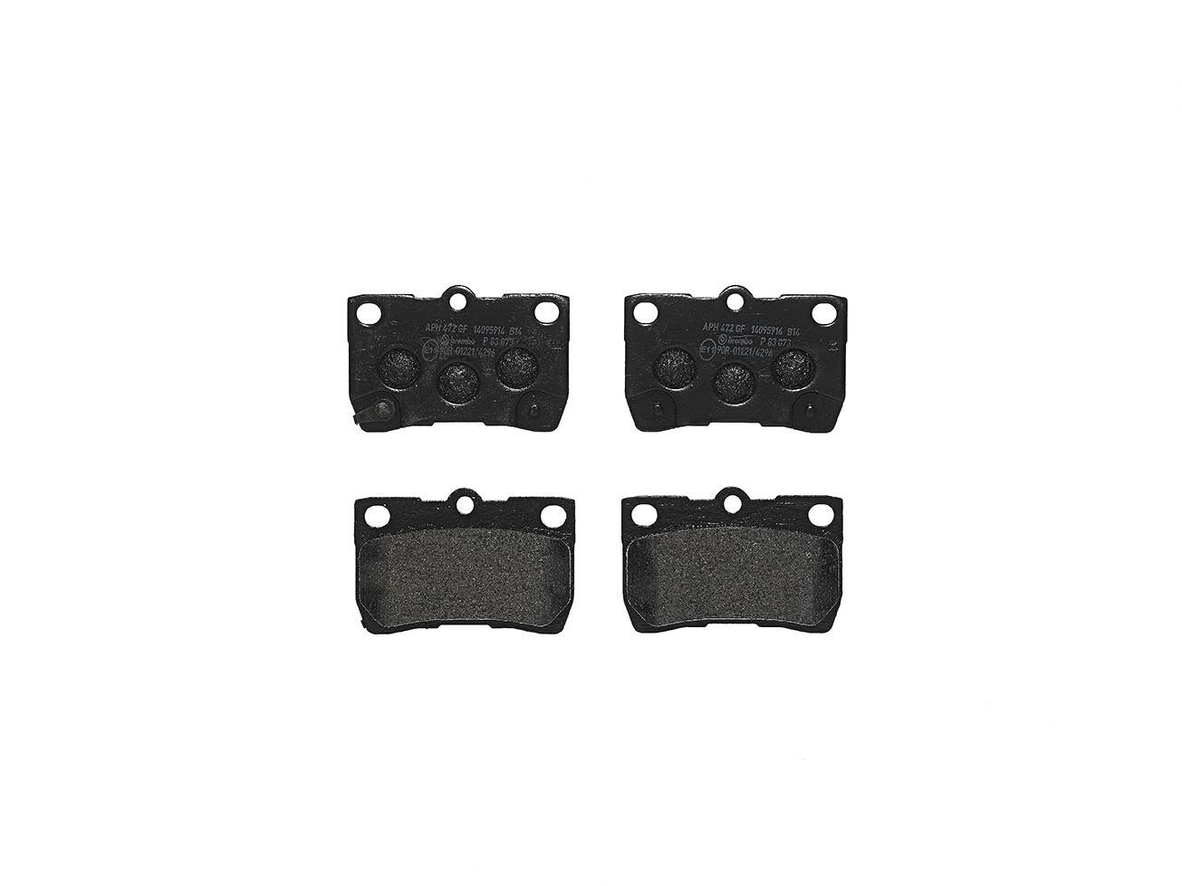 Brembo P83073 Rear Disc Brake Pad - Set of 4
